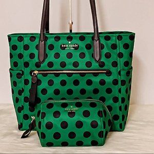 New Kate Spade Chelsea Large Tote + Cosmetic Bag